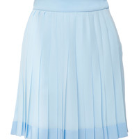Pleated Crepe De Chine Skirt | Moda Operandi