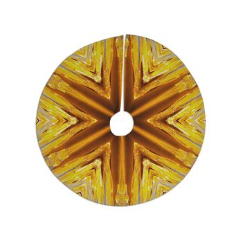 """Philip Brown """"Gold Star Icicles"""" Gold Blue Tree Skirt"""
