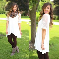 Lace Embrace Tunic in Ivory