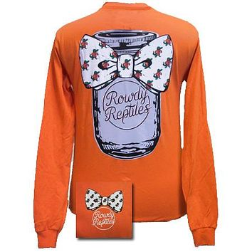SALE Florida Gators Mason Jar Bow Girlie Bright Long Sleeves T Shirt