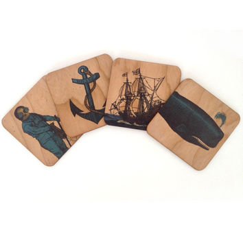 Spitfire Girl Nautical Coaster Set