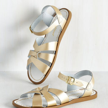 Salt Water Sandal in Gold