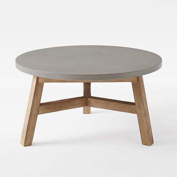 Mosaic Coffee Table - Solid Concrete Top