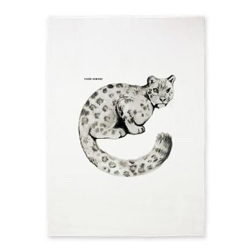 Snow Leopard Cat 5'x7'Area Rug on CafePress.com
