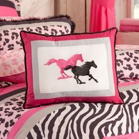 Wild 'N Bright Horse Pillow