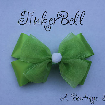 tinkerbell hair bow