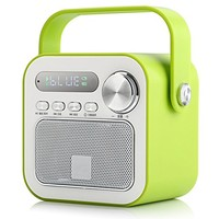 BestFire AY836 Stylish Infra-red Remote Control Portable Mini Wireless Bluetooth Subwoofer Speaker Built-in Microphone Hand-free Call FM Radio TF Card for Iphone6 Iphone 6 plus Iphone 5s Samsung S5 Samung Note4 Smartphone Speaker (Green)