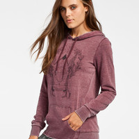 Volcom Stone Rad Womens Hoodie Merlot  In Sizes