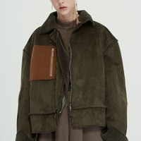 Fussed Suede Sherpa Workman Jacket
