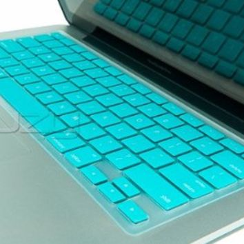 "Kuzy - Neon Teal Keyboard Silicone Cover Skin for MacBook Pro 13"" 15"" 17"" (with or w/out Retina Display) iMac and MacBook Air 13"" - Neon Teal"