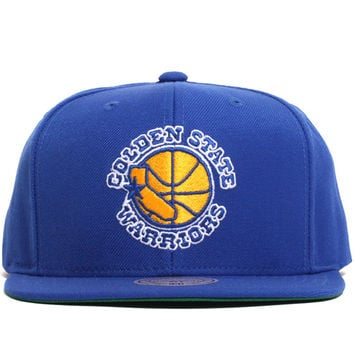 Golden State Warriors Solid Snapback Hat Blue