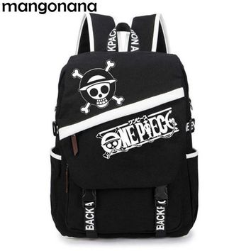 Anime Backpack School kawaii cute One Piece Luffy Skull / Tokyo Ghoul / Totoro / Naruto Canvas Backpack Canvas Travel School Bag Shoulder Bag AT_60_4