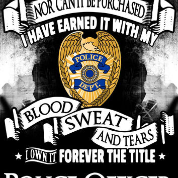 """""""Forever the Title Police Officer"""" Vinyl Decal Sticker (5"""" tall)"""