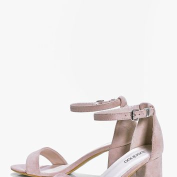 Rachel Low Block Heel Two Part | Boohoo