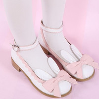 EU 32-44 Lolita Cutie Bunny Bowknot Princess Shoes SP153064