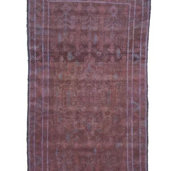 4x7 Vintage Tribal Dark Chocolate Rug 2626