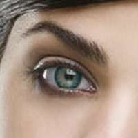 Fine & Clear Topaz Blue Coloured Contacts