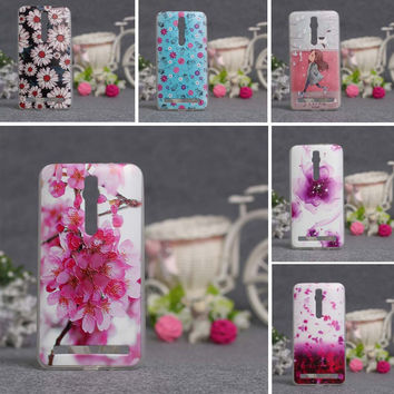Luxury 3D Relief Printing TPU Gel Cover Case Skin for Asus Zenfone 2 ZE550ML ZE551ML Zenfone 2 (5.5 inches) Silicon Phone Case