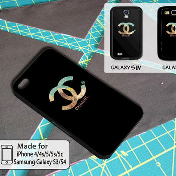 Logo Double Black Cover Case For Iphone 4/4s/5/5s/5c and Samsung Galaxy S3/S4