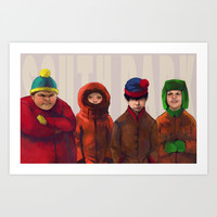 South Park Art Print by Akreon