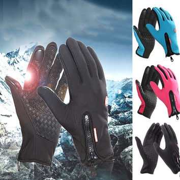 Emei Winter Sport Windstopper Waterproof Ski Gloves Warm Riding Glove Motorcycle Gloves = 5616980993