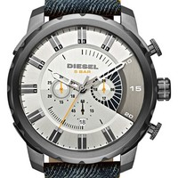 Men's DIESEL 'Stronghold' Chronograph Leather Watch, 51mm
