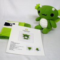 Plush Dragon Sewing Pattern Kit Stuffed Animal DIY