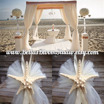 Beach Wedding Decor Starfish Chair Decoration Chuppah Decor Starfish Centerpiece Beach Wedding Decorations Starfish wedding Beach party etsy