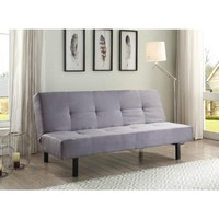 True Innovations 3 Position Fabric Futon, Gray - Walmart.com