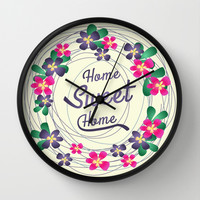 Home Sweet Home  Wall Clock by ArigigiPixel