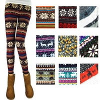Womens Colorful Nordic Snow Knitted Leggings Tights, thicken Comfy Great Quality