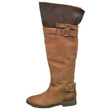Sixty Seven Flat Boot Knee High Womens Boots Brown Size 6 ~