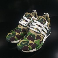 Best Deal Online Adidas Boost BAPE NMD R1 Camo Men Women Running Shoes BA7326