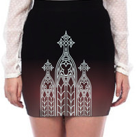 Ombre Gothic Cathedral Skirt