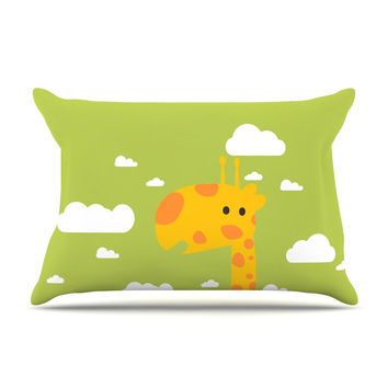 "Strawberringo ""Baby Giraffe"" Green Yellow Pillow Case"