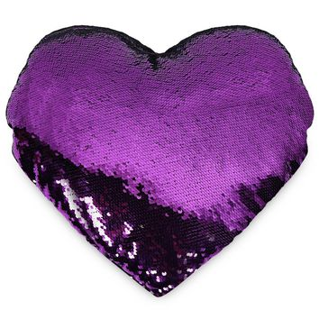 Throws Pillow Heart-shaped Shining Sequins Writable Pillow PP Cotton Home Decorative Textile Bedding Neck Health
