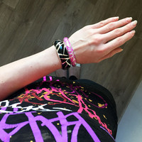 Violet Color Bangle hand painted with enamel and SILVER plated