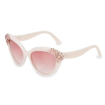 kate spade new york Karyna Stone Flower Cat-Eye Sunglasses | Dillards