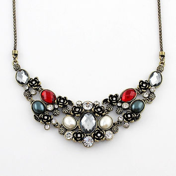 Collares Vintage Necklaces New Arrival Charming Graceful Rhinestone Bohemian Jewelry Statement Necklaces For Women = 1928625860