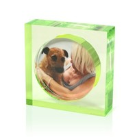 Acrylic Photo Frame – Lime green