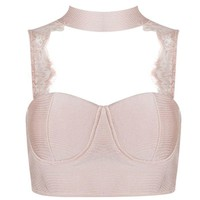 Lace Back Bandage Crop Top