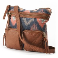 SONOMA life + style Georgia Ikat Crossbody Bag (Brown)