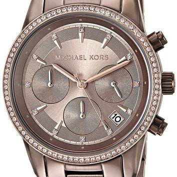 ONETOW Michael Kors Watches Ritz Sable Chronograph Watch