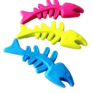 Hot Selling New Funny Fashional New Arrival Cat Toys Pet Cat Puppy Rubber Dental Teeth Chew Bone Play Training Fetch Fun Toys
