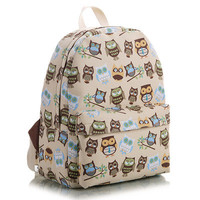Animal Cute Canvas Korean Lovely Striped Floral Stripes Backpack = 4887613892