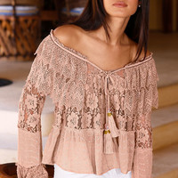 Ruffle And Lace Top