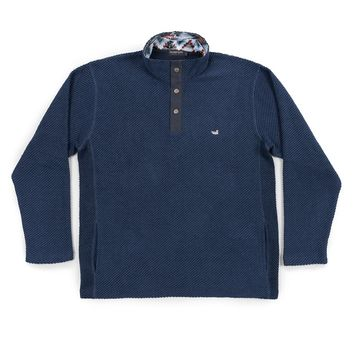 Pawleys Rope Pullover in Washed Navy by Southern Marsh