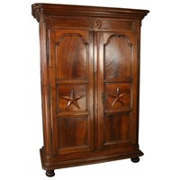 Pre-owned C. 1710 Louis XIV Period Walnut Armoire