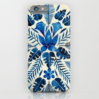 Tropical Symmetry – Navy iPhone & iPod Case by Cat Coquillette