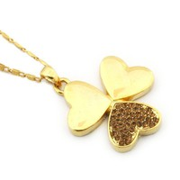 Personalized Triple Hearts Pendant Chain Necklace at Online Fashion Jewelry Store Gofavor